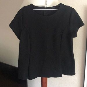 Medium Ann Taylor Peplum Top in black
